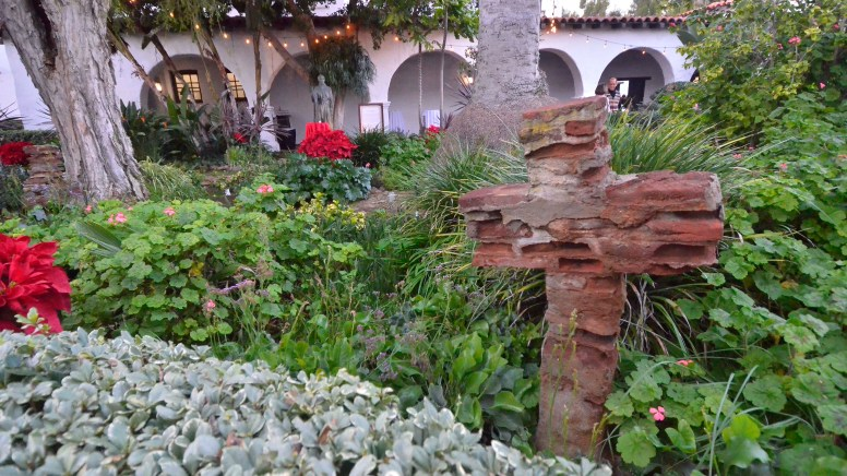 A garden outside the mission is a place for reflection.