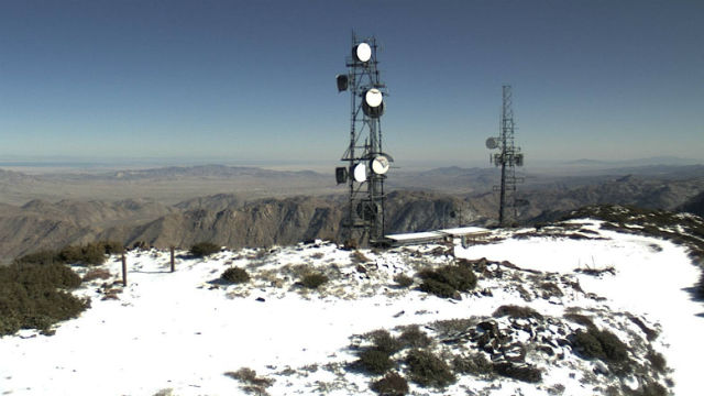 Snow on Mt. Laguna on Tuesday