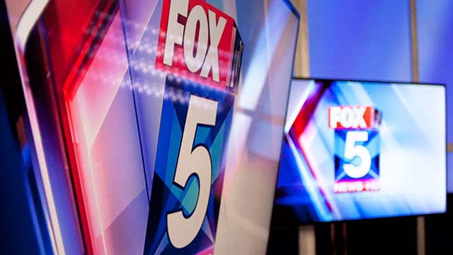Logos and graphics of KSWB Fox5 in San Diego.