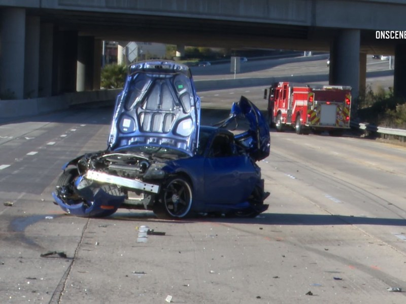 I-805 suspected racing crash