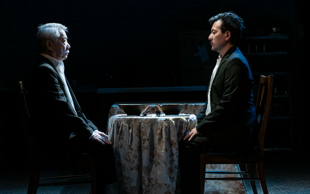 """Dana Lee and Brian Kim as father and son in """"Aubergine"""""""