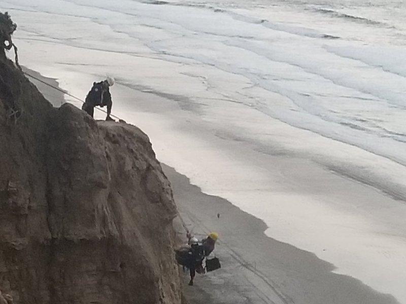 Black's Beach rescue