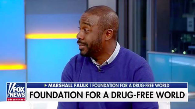 "Former Aztecs running back and Hall of Famer Marshall Faulk appears on Fox News ""Fox & Friends."""