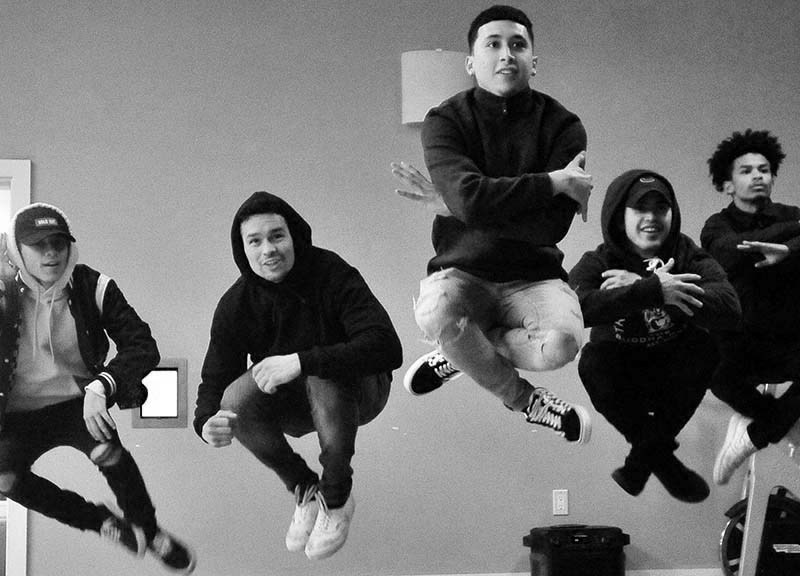 Fuego Dance Crew (from left) Paul Lopez, Eric Payan, Andretty Lucatero, Lewis Torres and Shawn Nguyen.