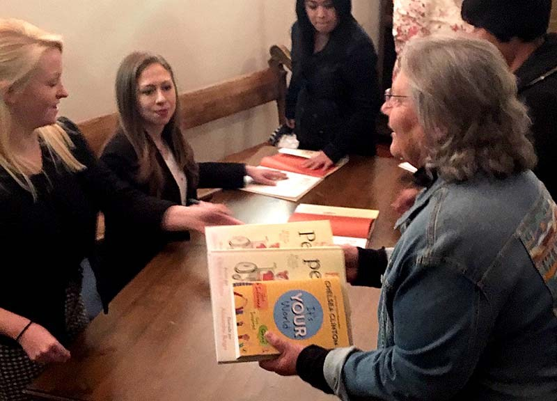 Tickets to the Chelsea Clinton event started at $19.38 and included a copy of book for signing.