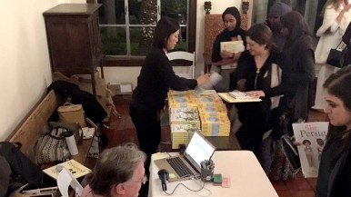 Warwick's Bookstore of La Jolla distributed copies of Chelsea Clinton titles. The store co-hosted the event with USD's College of Arts and Sciences.