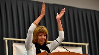 Club Secretary Linda Armacost celebrated Speaker Nancy Pelosi's power in the House.