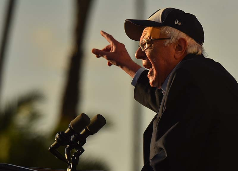 Presidential Candidate Bernie Sanders sought support of San Diego residents.