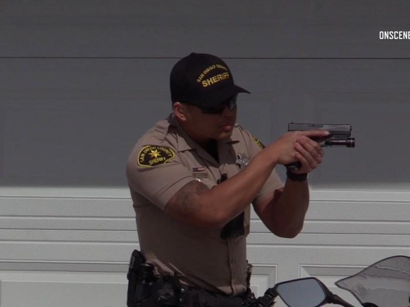deputy brandishing gun