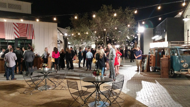 Guests at One Paseo nighttime preview