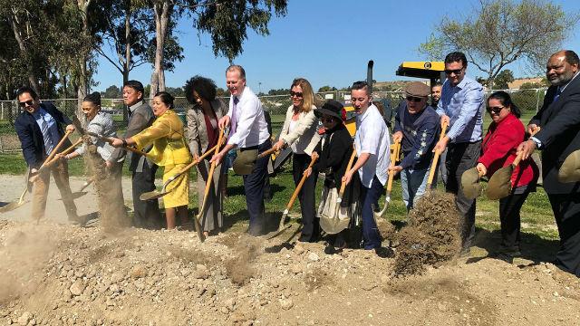 City leaders break ground for senior center
