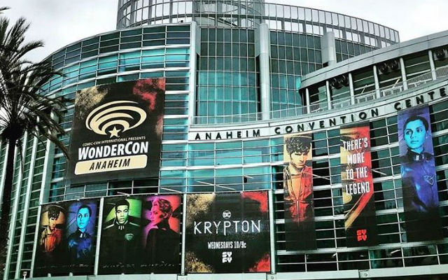 WonderCon signs outside the convention center in Anaheim