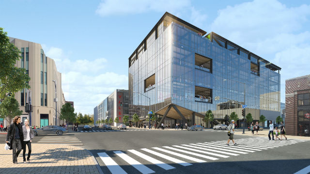Rendering of transformed Nordstrom Building
