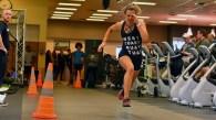 Taylor La Force of La Mesa runs as she promotes a plant-based diet.