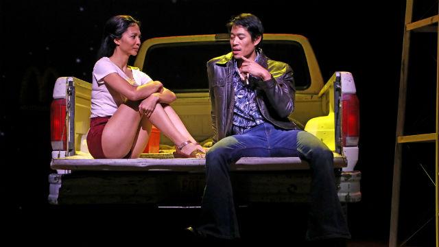 "Maureen Sebastian and Tim Chiou in the world premiere of ""Poor Yella Rednecks"""