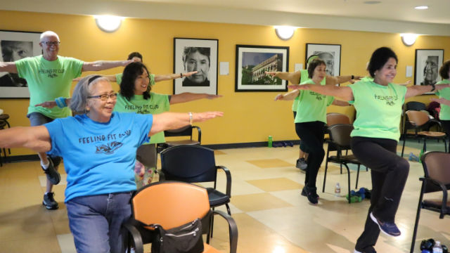 Seniors exercising in San Diego
