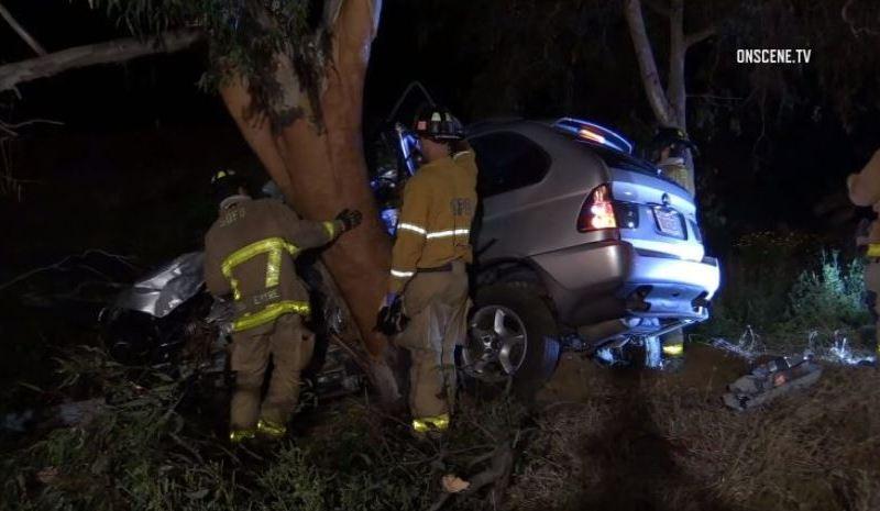 First responders at fatal crash