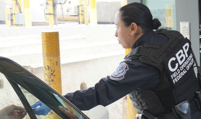 CBP officer at port of entry