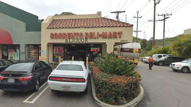 Store in Sorrento Valley where the winning ticket was sold
