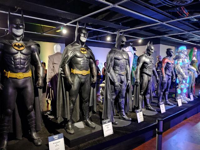 Batman models at the Comic-Con Museum
