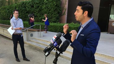 Democrat Ammar Campa-Najjar defends his sharing a rumor that Rep. Duncan Hunter will resign from Congress.