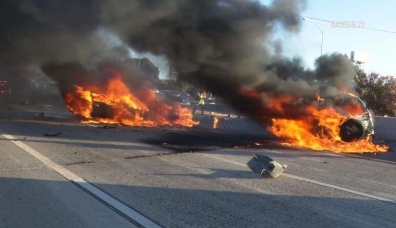 Crash on Interstate 5