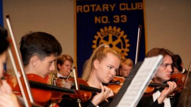 International Youth Symphony performs at Rotary Club event