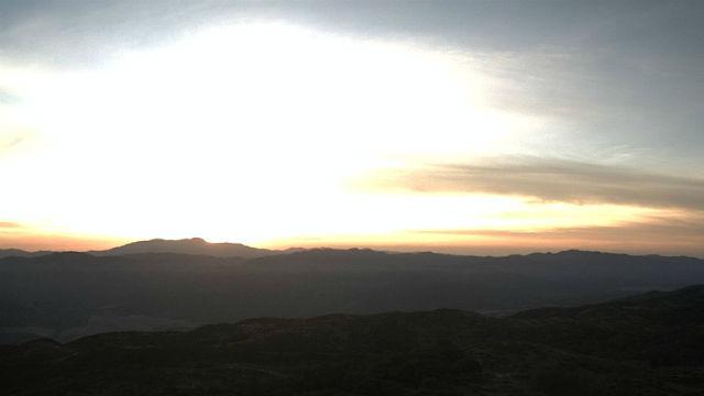 Sunrise from Volcan Mountain near Julian