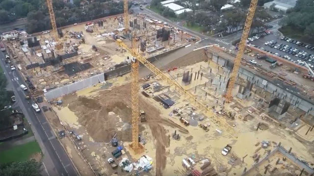 Aerial view of UCSD construction site