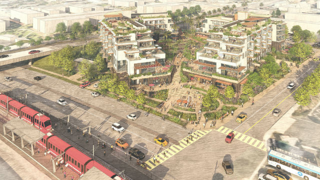 Architect's rendering of Bayview Plaza