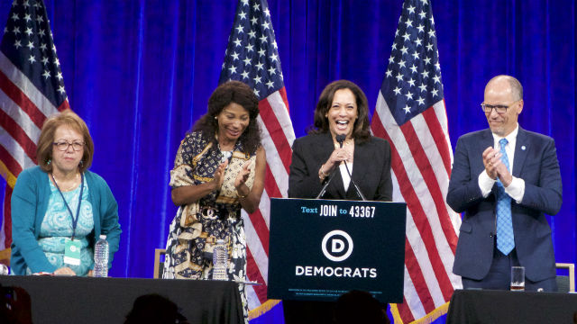 Kamala Harris at a Democratic National Committee Meeting in San Francisco