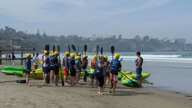 Kayak rentals at La Jolla Shores