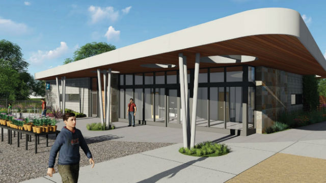 Rendering of building in the ornamental horticulture complex