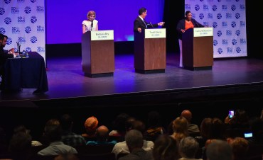 San Diego City College's Saville Theatre had at least 60 vacant seats despite the debate being considered an RSVP sellout.