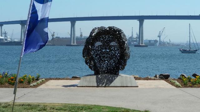 The statue's view toward the Coronado Bridge
