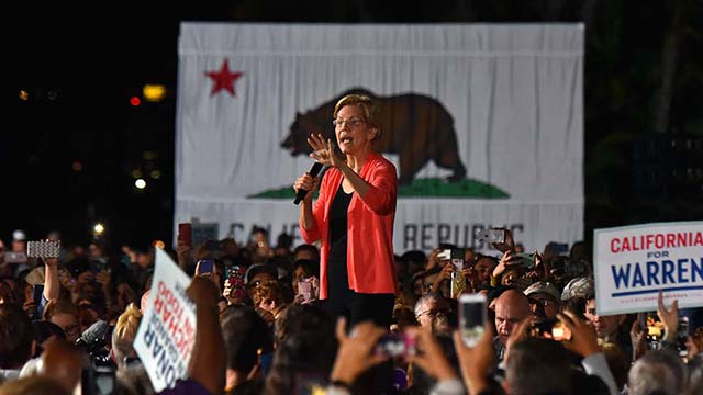 "Sen. Elizabeth Warren said citizens would decide in 2020 that elections matter and every person says: ""I'm off the sidelines and ready to get into the fight."""