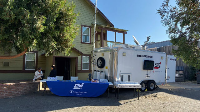 SDG&E mobile command trailer in Julian