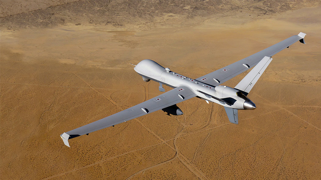 A military drone.