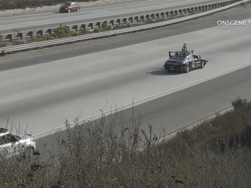 Self driving car being tested