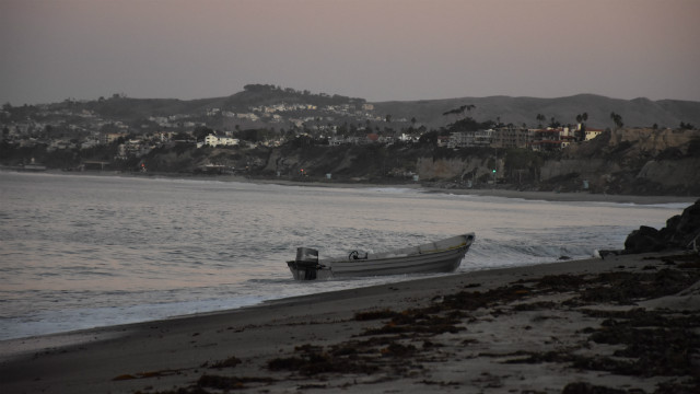Smuggling boat on beach in La Jolla