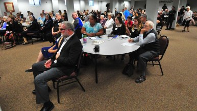 About 160 clergy, scientists and other lay people attended conference at the Pastoral Center in Clairemont.