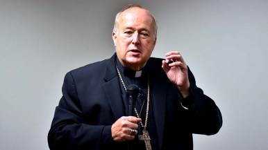 Bishop Robert McElroy said society and people have to adjust their behavior to meet the challenge of climate change.