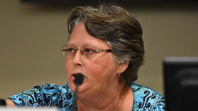 "Jilanne ""Jill"" Barto alleges First Amendment and civil rights violations by fellow Cajon Valley school board members and the district superintendent."