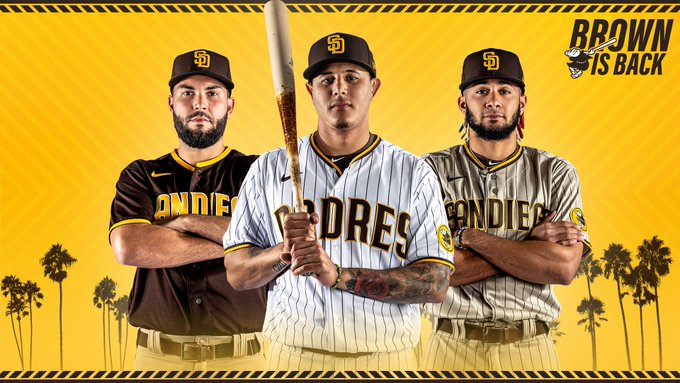 MLB Brown and Gold