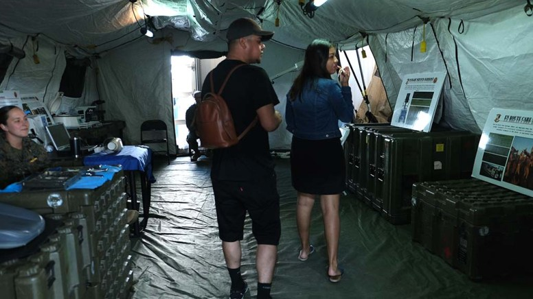 Visitors to the Fleet Week display at Broadway Pier got a look at military medical facilities.