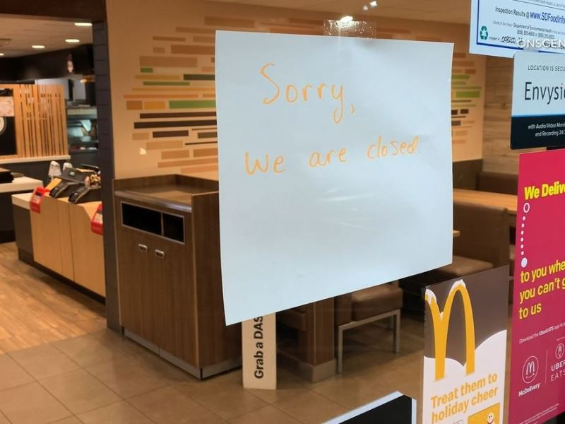 McDonalds closed in Poway