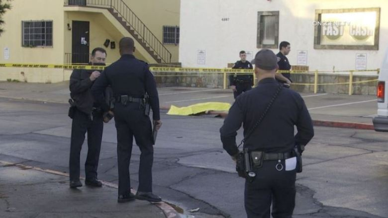 Police at scene of shooting