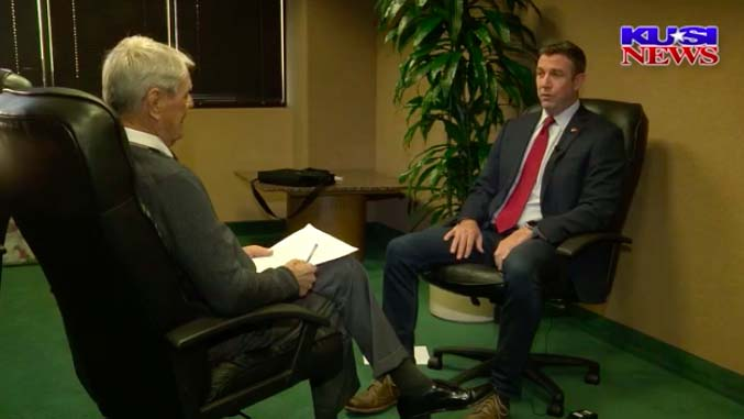 Longtime KUSI reporter Steve Bosh was briefly shown with Rep. Duncan D. Hunter in interview that aired Monday morning.
