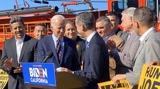 Joe Biden with Eric Garcetti