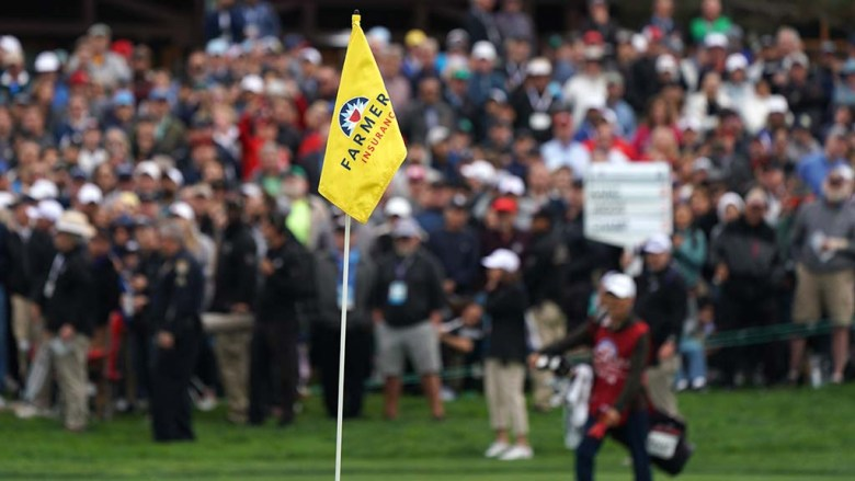 Thousands of fans crowded the fairways to see their favorite players at the Farmers Insurance Open.